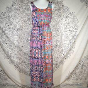Everly Tribal Print Maxi Dress